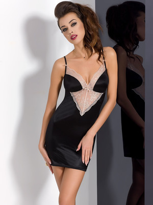 LOTUS CHEMISE black - Passion